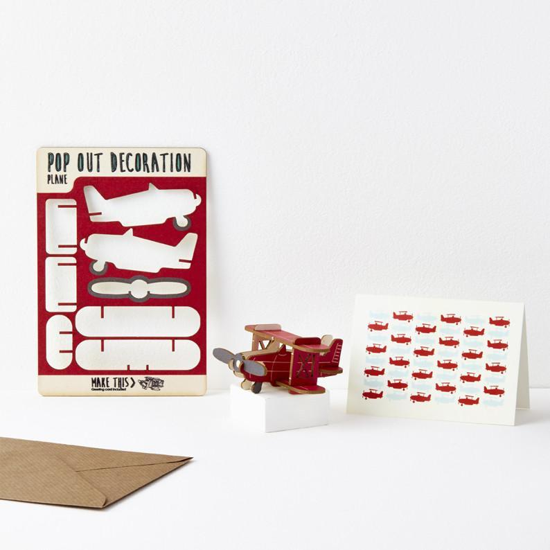 The POP OUT PLANE GREETING CARD