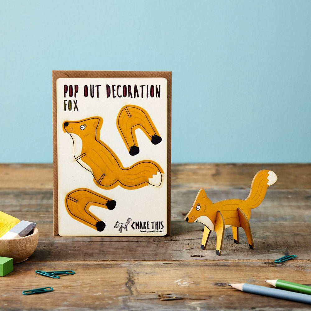 POP OUT FOX GREETING CARD