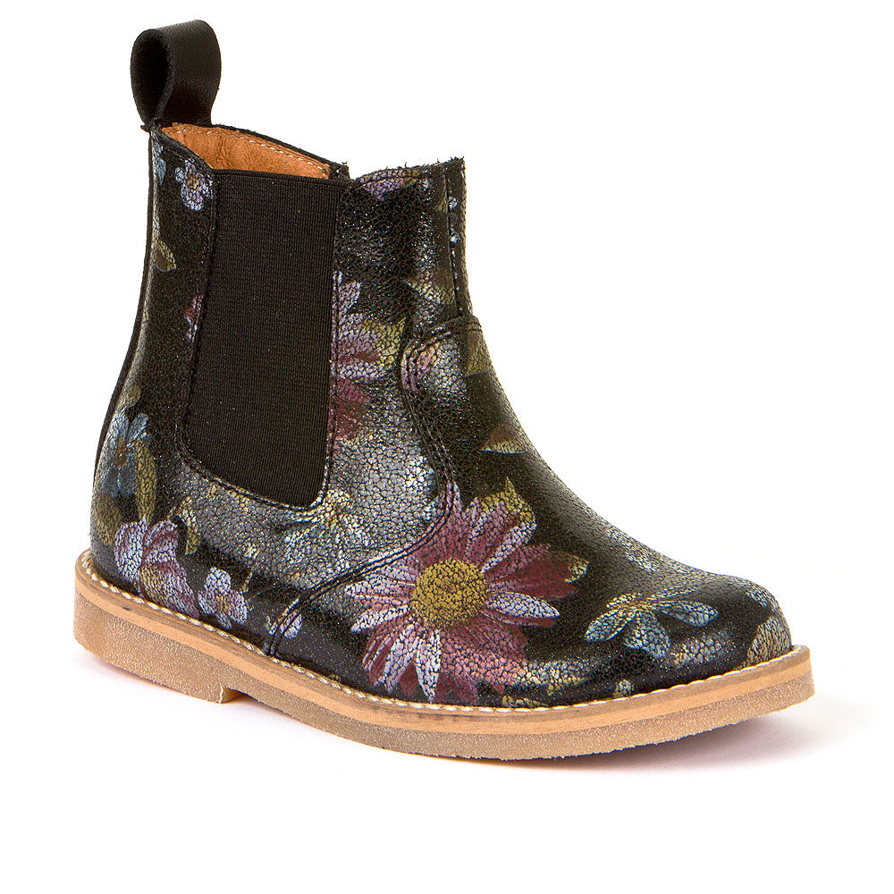 Froddo Girls Chelsea Boots Flower print - little-yu-boutique - Girls boots