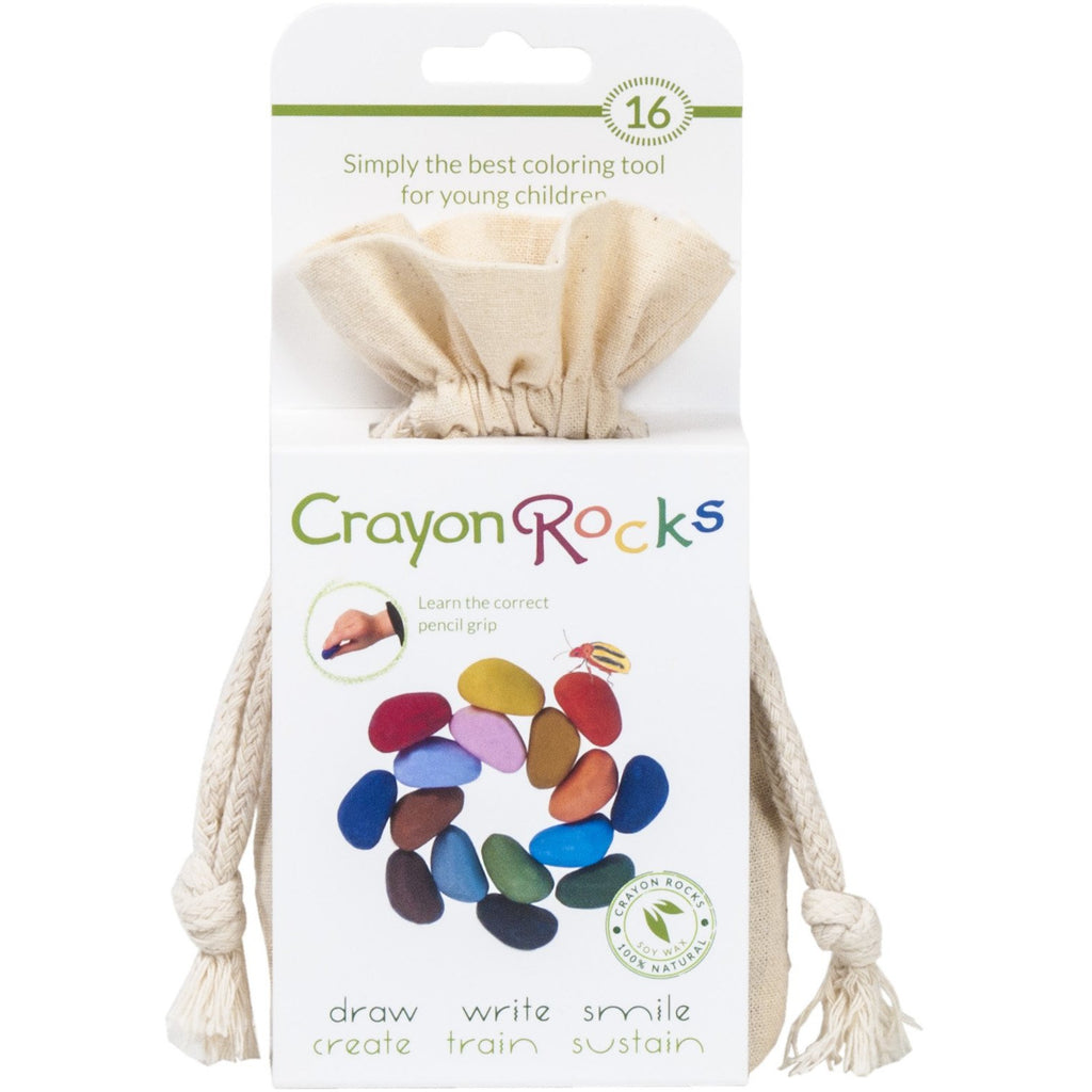 Crayon Rocks -16 Colors in a Muslin Bag