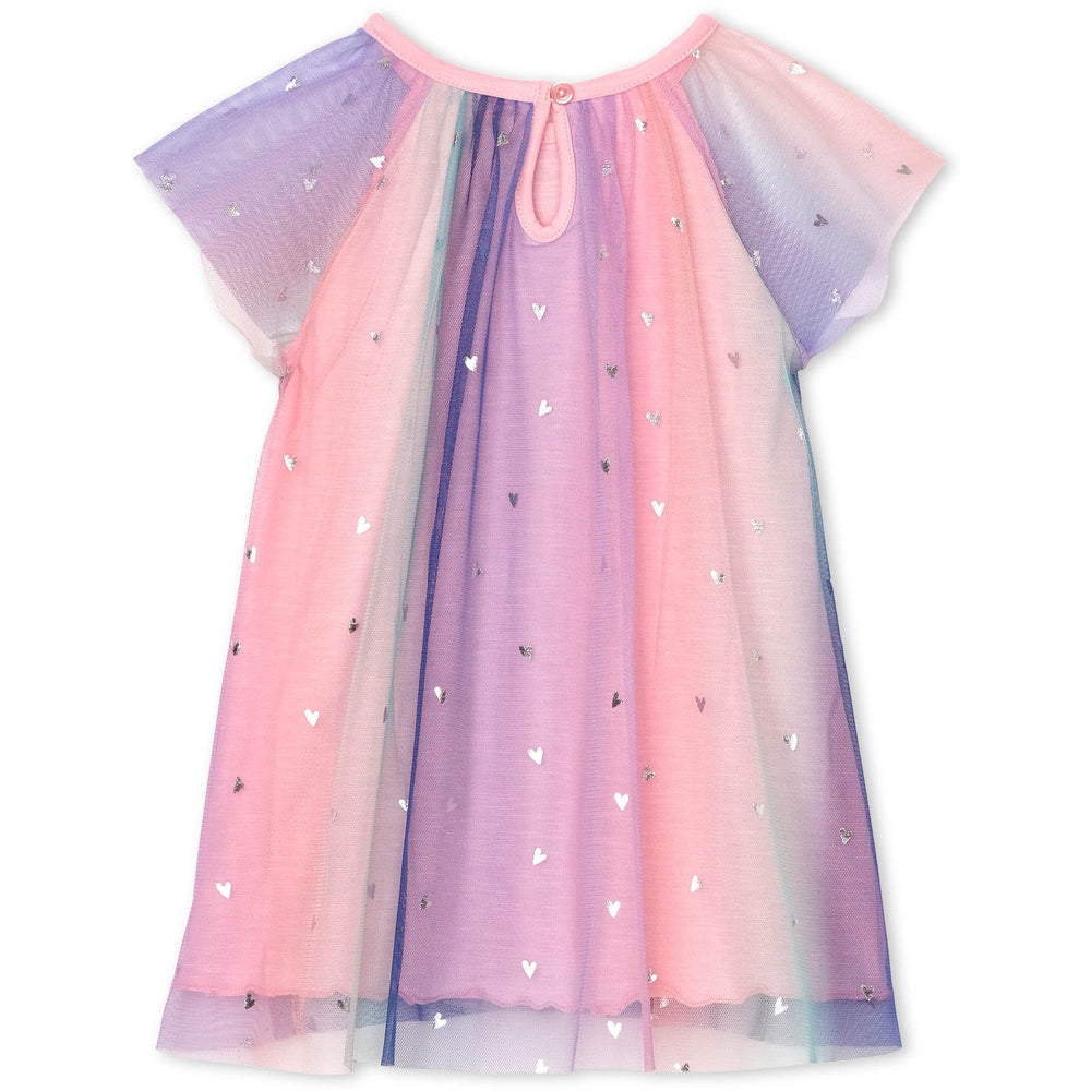 Hatley Metallic Hearts Baby Rainbow Tulle Dress