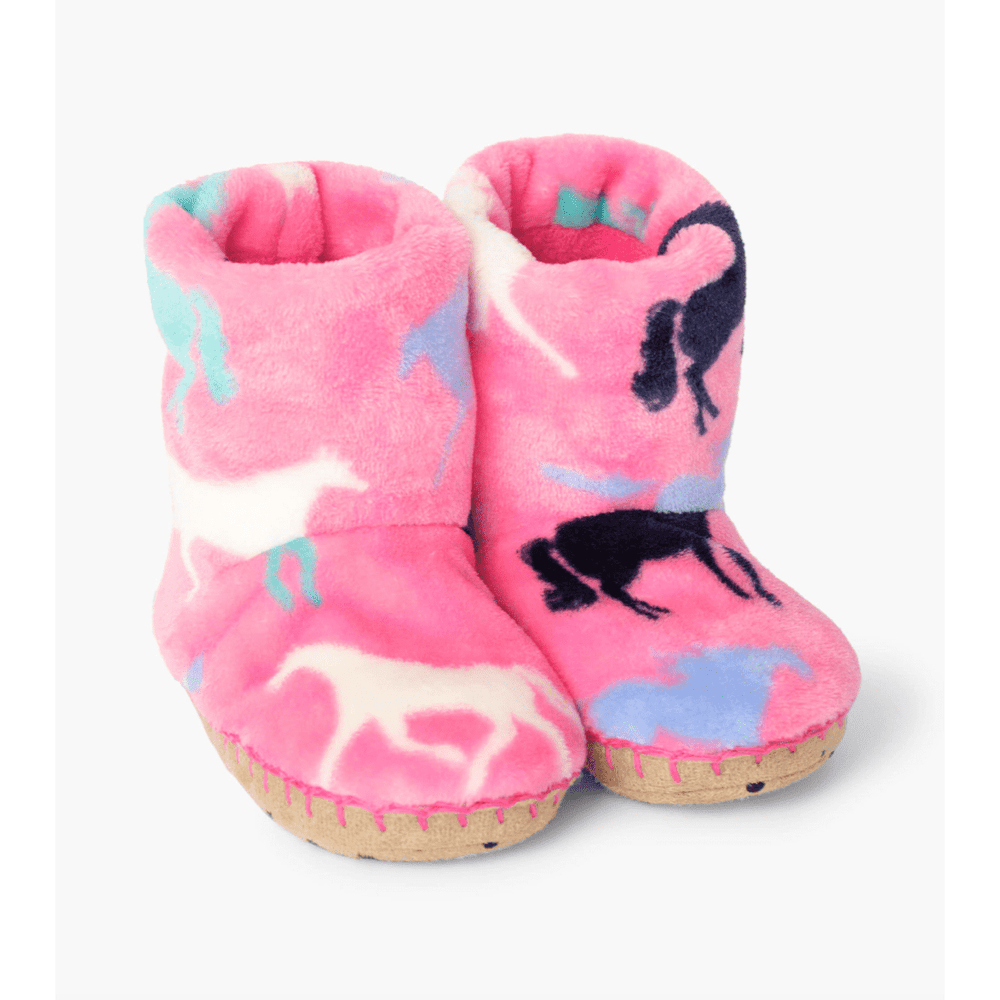 Hatley Horse Silhouettes Fleece Slippers