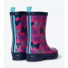 Load image into Gallery viewer, Hatley Spotted Butterflies Shiny Rain Boots