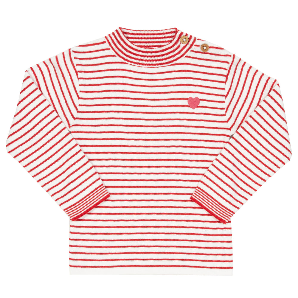 Kite Stripy heart jumper