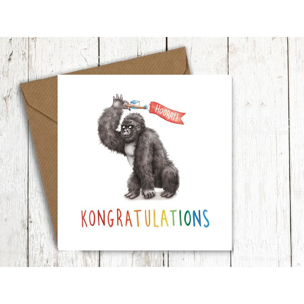 Citrusbunn Quirky King Kong Card
