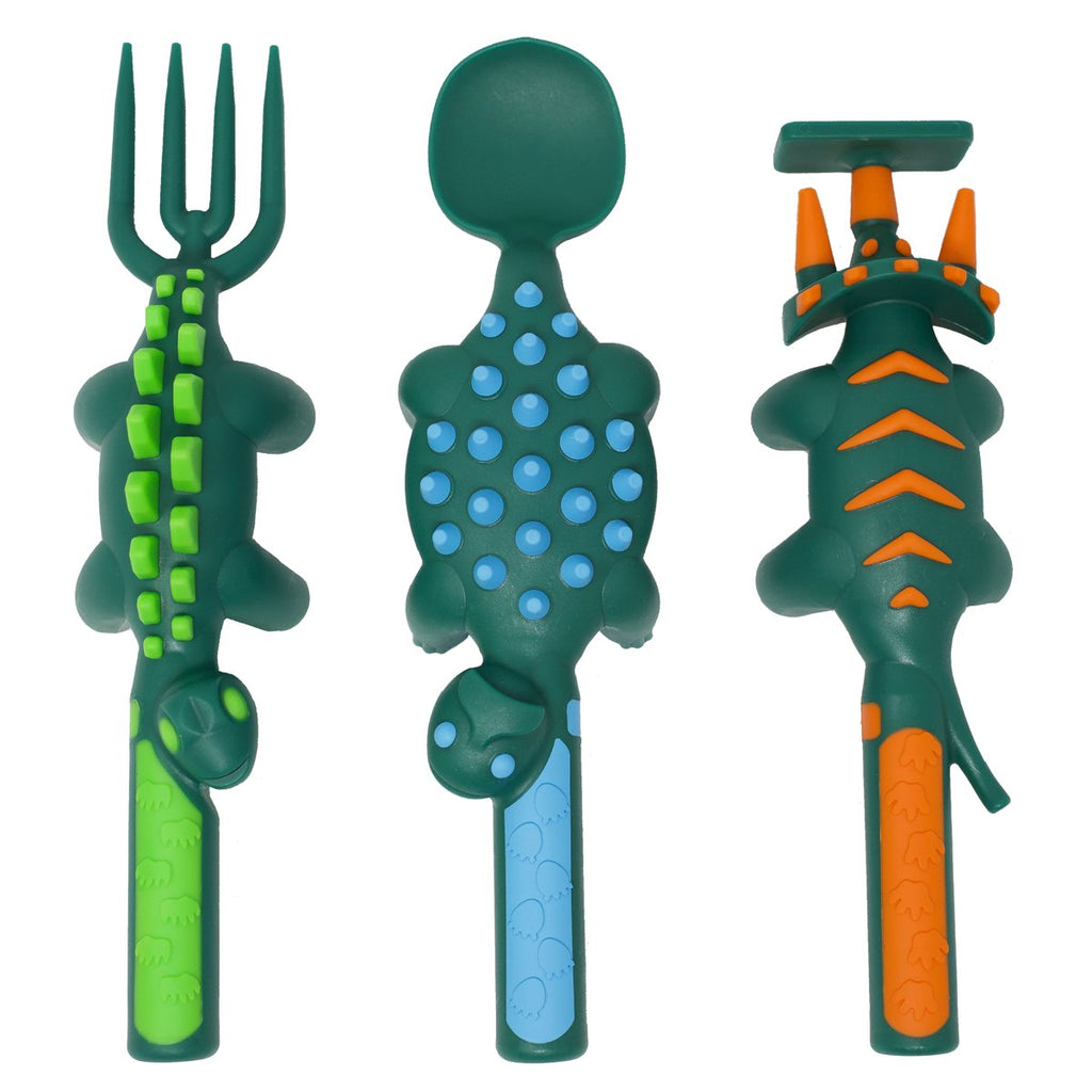 Constructive eating - Set of 3 Dino Utensils
