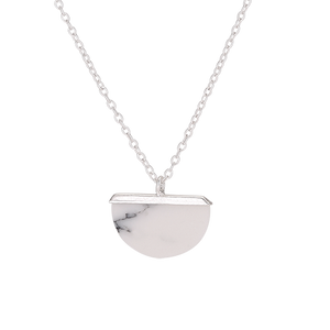 White Icon Necklace