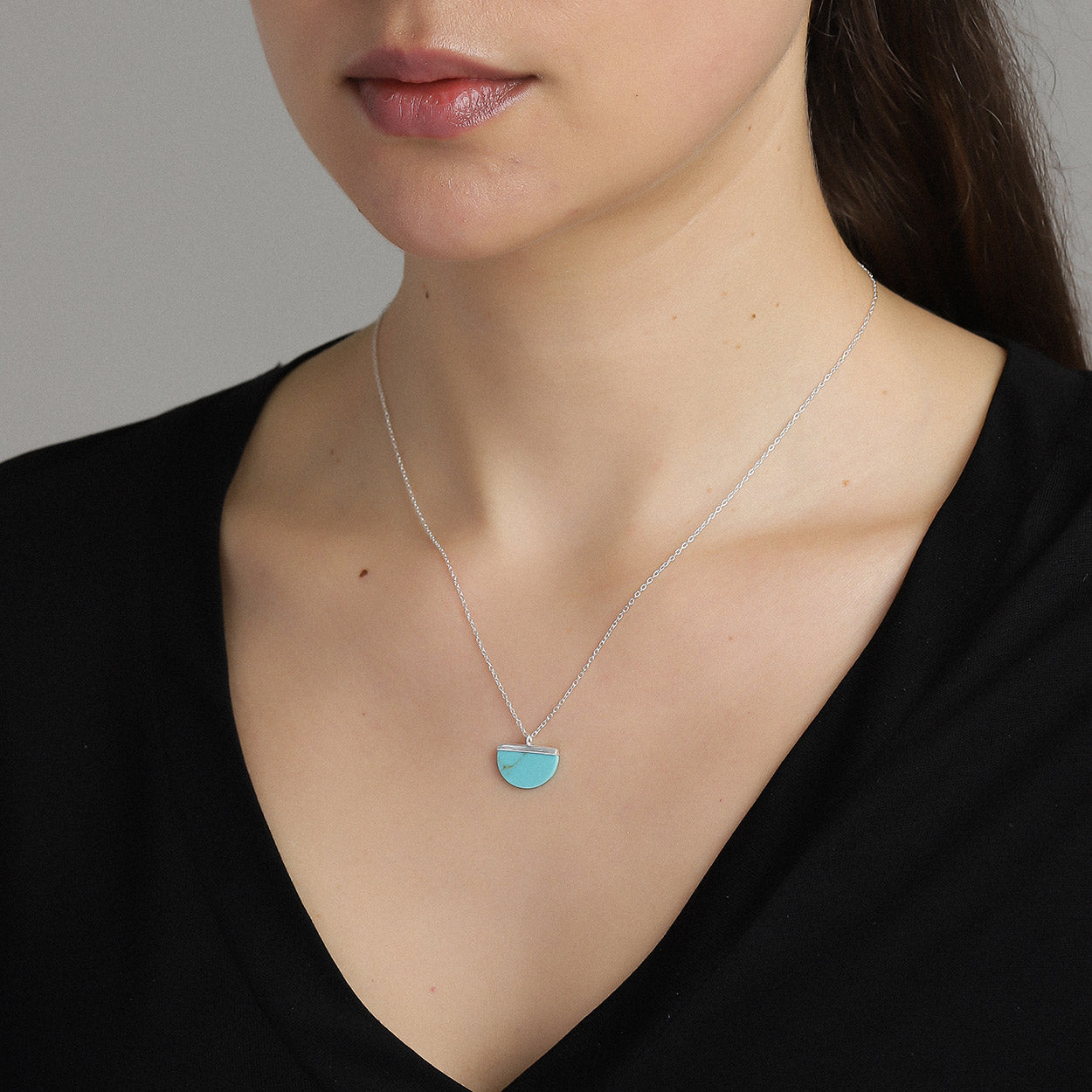 Blue Icon Necklace