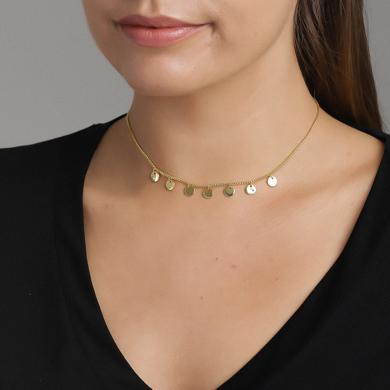 Plain Choker Necklace