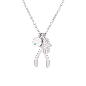 Clear Carousel Necklace