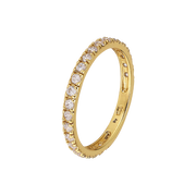 Clear Eternity Ring