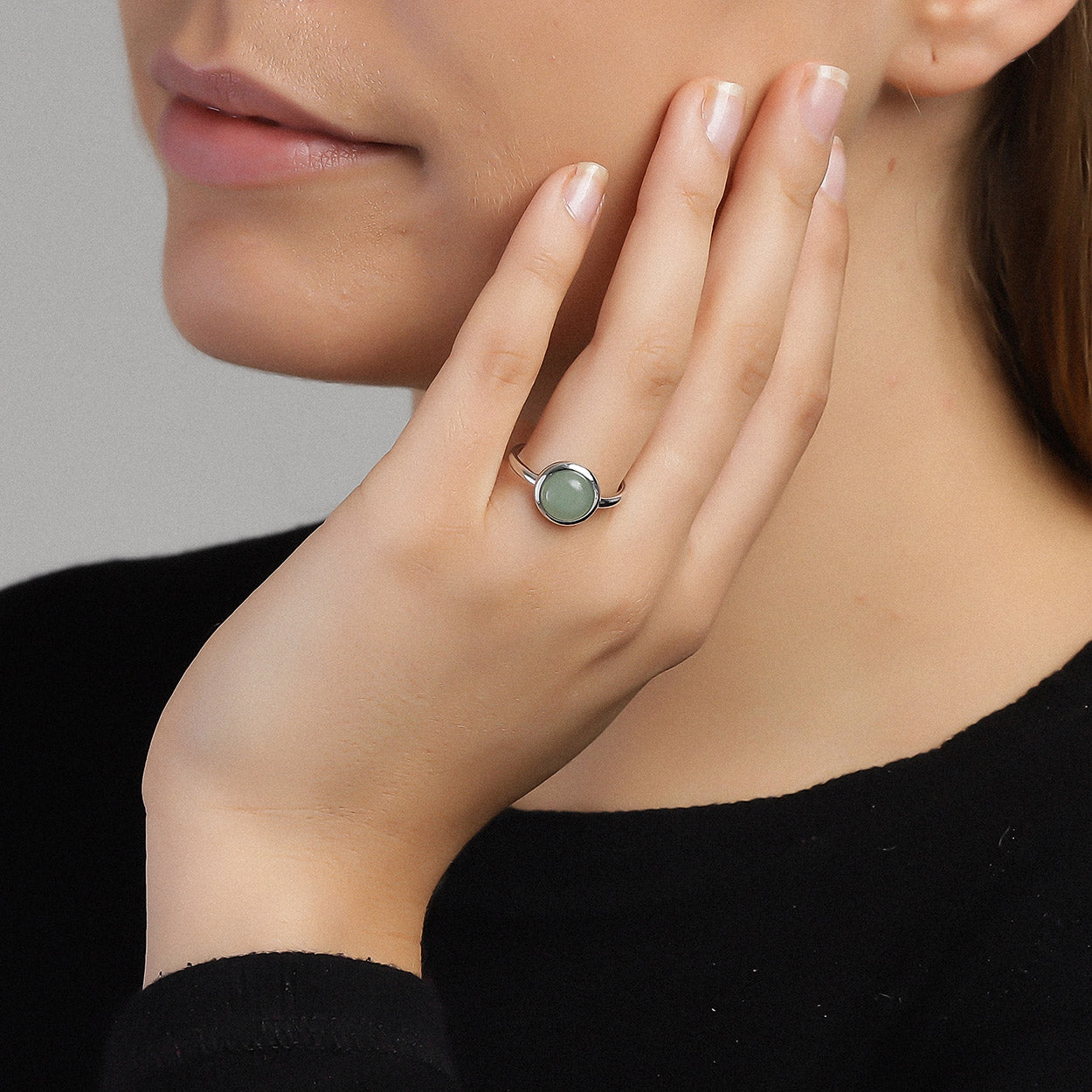 Green Confetti Ring