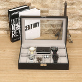 Mixed Grids PU Leather Watch Box Jewelery Storage Container watch ring bracelet Organizer Box Display Watch casket Caja de reloj