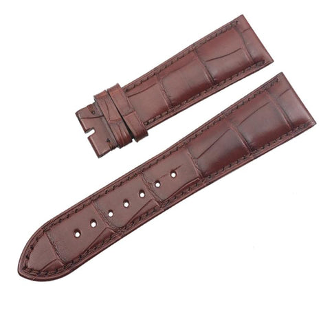 Bracelet de Montre en Cuir d'Alligator Marron