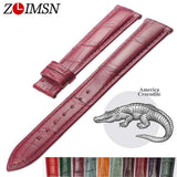 ZLIMSN Crocodile Genuine Leather Watchbands 12mm-24mm Watch Band Watches Accessories Suitable for Omega Longines Watch Strap