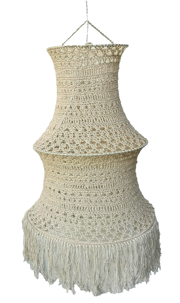 Beige Macramé Lamp Medium