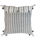 Injiri Rebari Cushion White + Black