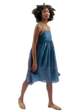 Slip Gathered Dress by MAKU Textiles