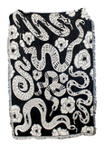 Black + White Snakes Blanket