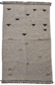Rharad Woolen Rug with Small Triangle Design