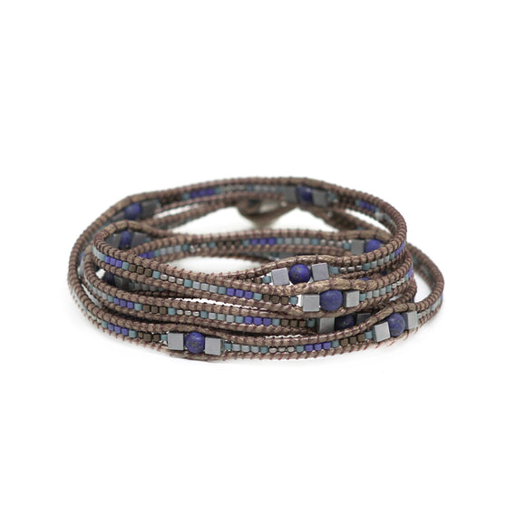 Fifi Blue-Gray Bracelet by Casa Cotzal