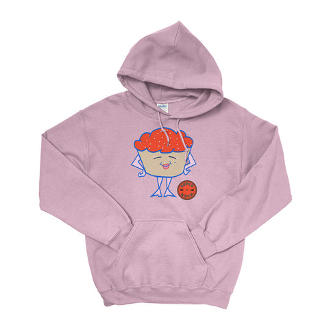 Red Miss Cupcake Hoodie-Hoodies-SuperKushCo
