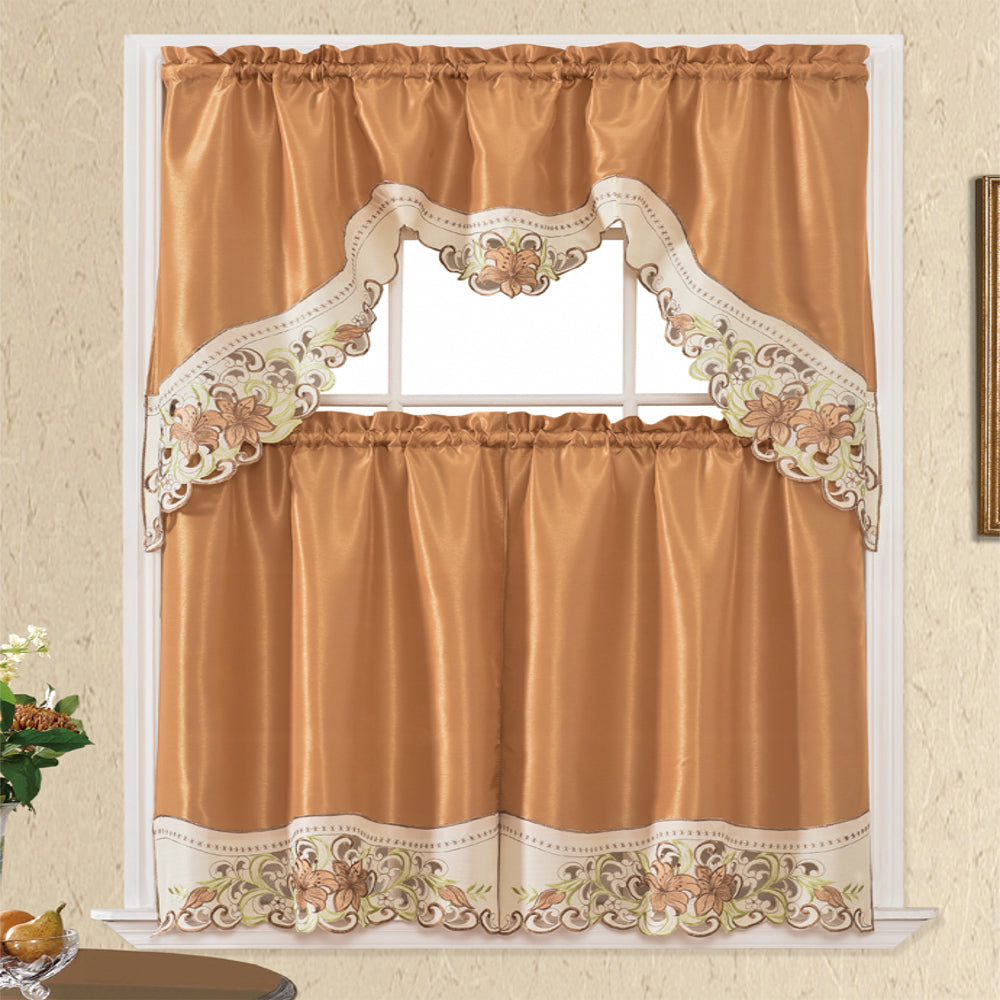 3 Piece - Kitchen Curtain - Angelina - Glory Home Design