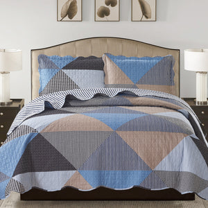 Suzy 3 Piece Quilt Set - Grey - Glory Home Design