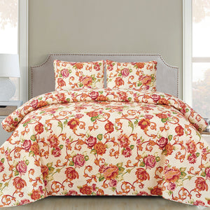 Harper - 3 Piece Quilt Set - Rose - Glory Home Design