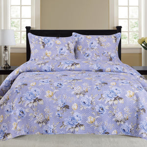 Nikki - 3 Piece Quilt Set - Lilac - Glory Home Design