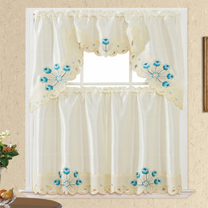 3 Piece - Kitchen Curtain - Miley - Glory Home Design
