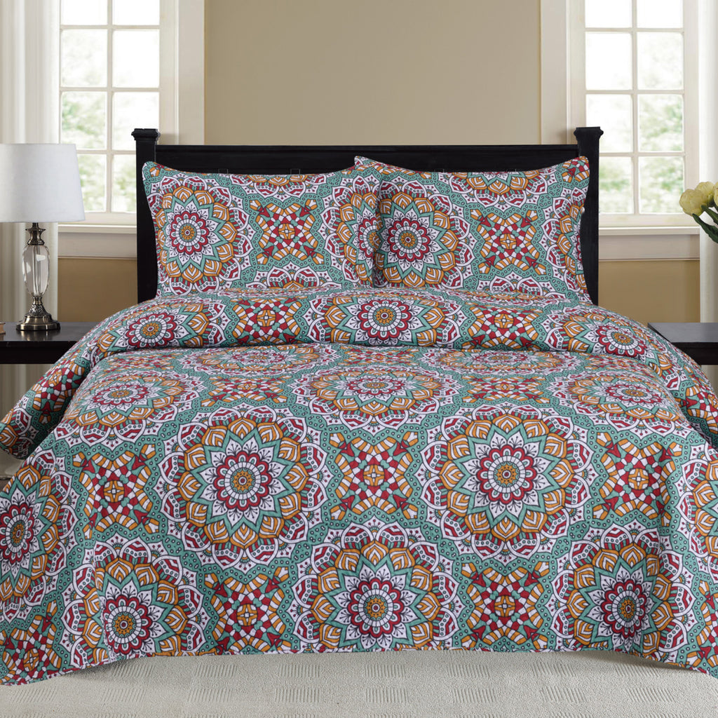 Cynthia - 3 Piece Quilt Set - Multi - Glory Home Design