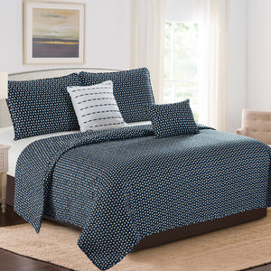 Karina - 5 Piece Quilt Set - Polka Dot Modern - Glory Home Design