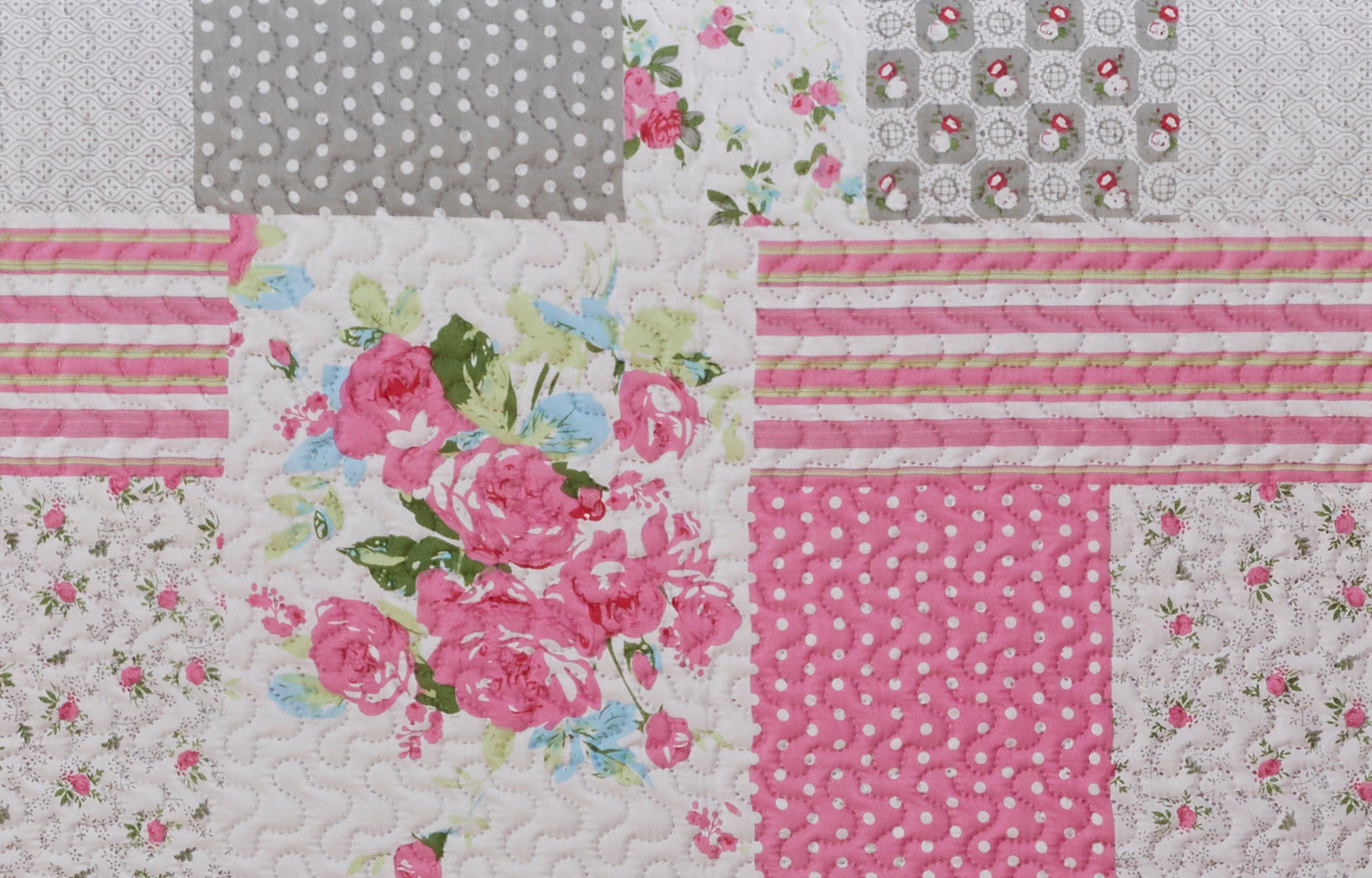 Rachel  - 3 Piece Quilt Set - Pink - Glory Home Design