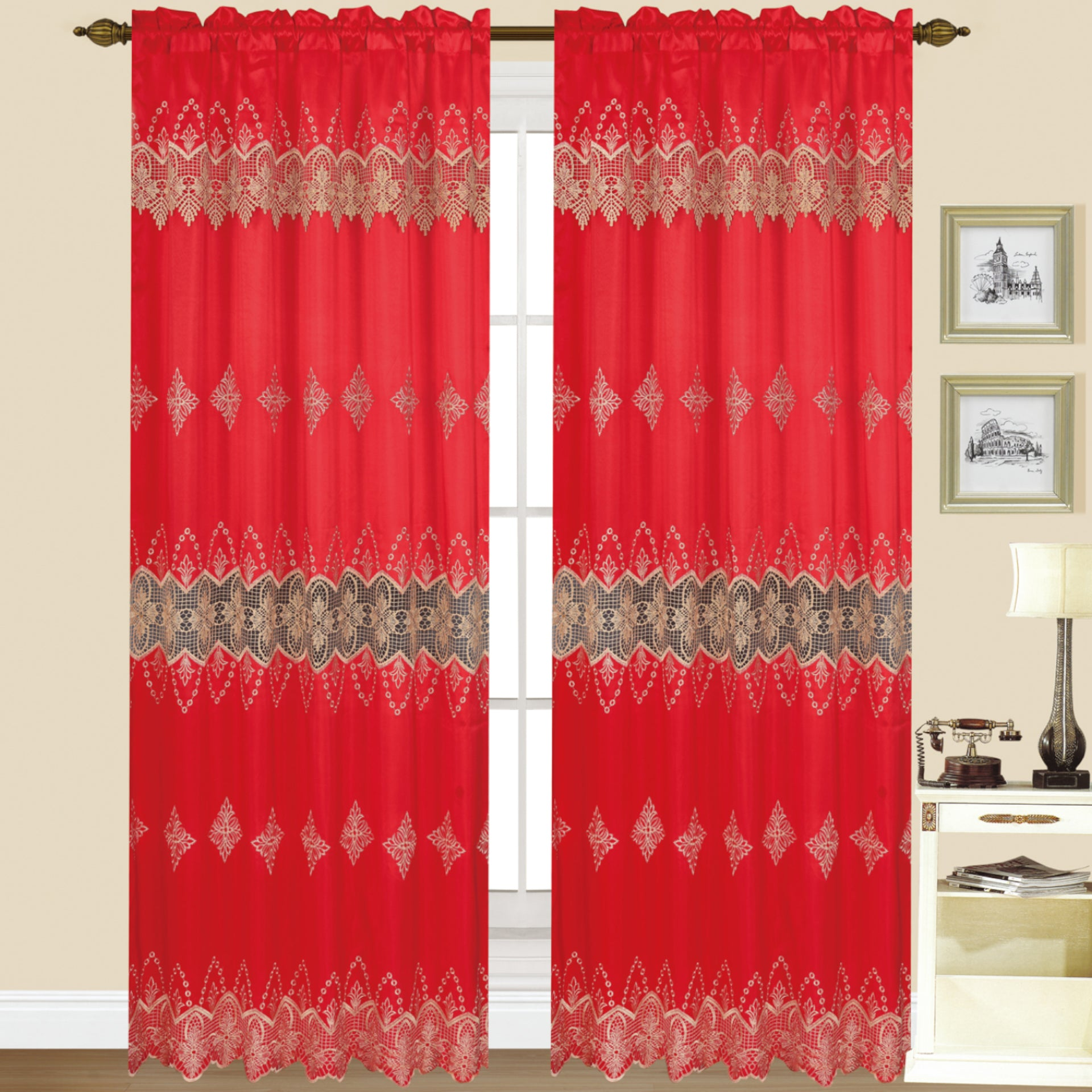 Scarlet - Macrame Panel - Set of Two - Assorted Colors - Glory Home Design