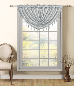 Mia Complete Set 2 Panels & 3 Valances - - Glory Home Design