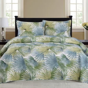 Cynthia - 3 Piece Quilt Set - Sage - Glory Home Design
