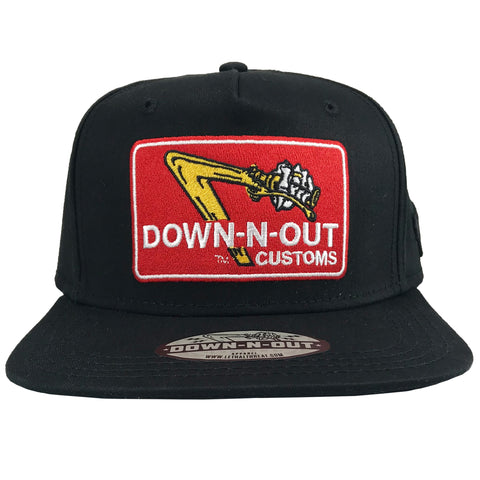 DOWN-N-OUT Flat Bill Hat