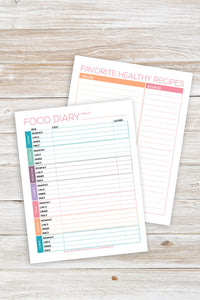 Printable Food Diary Kit