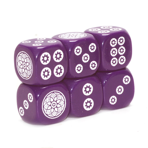 Power of Purple Mahjong Dice to benefit the Alzheimer's Association - one pair of 16 mm dice