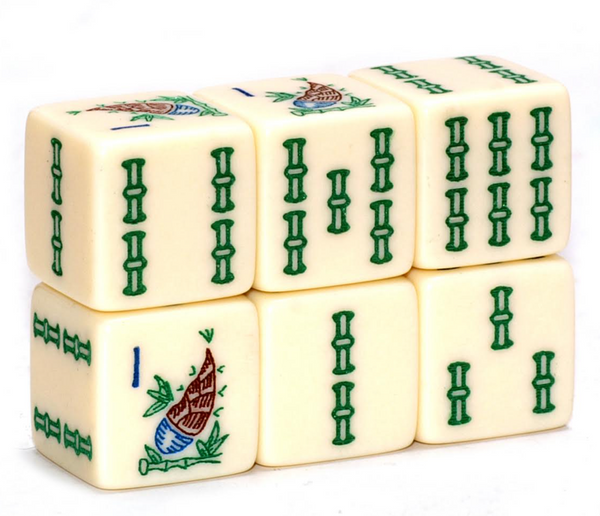 Sprout Bamboo Ivory Mahjong Dice™