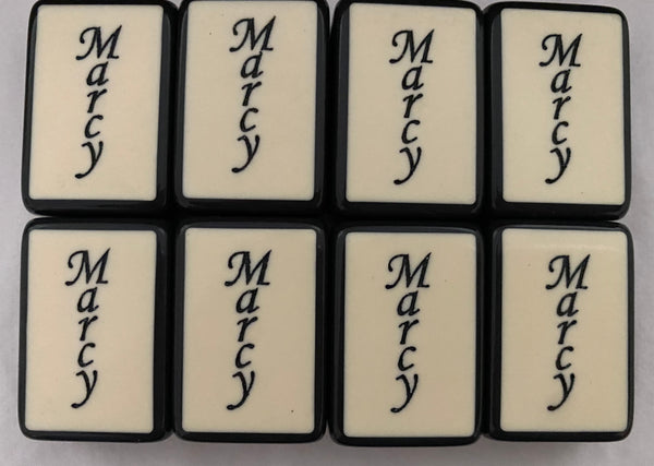 Custom Text or Design Jokers for the Black Replica Enrobed Mahjong Set (set of eight jokers)