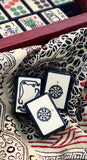 Limited Edition Replica Black Enrobed Mahjong Set, Wood/Acrylic Box and Mahjong Dice™ Bundle