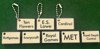 Mahjong Tile Set Indicator - Custom Text Engraved to Order