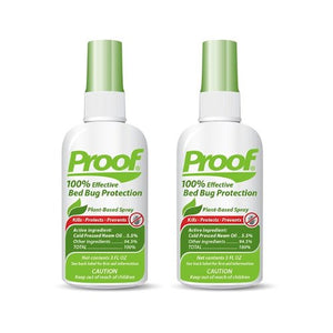Proof Bed Bug Killer Spray (3oz) - 100% Effective Kills Bed Bugs and Bed Bug Eggs - Plant Based, EPA Registered Vapor Treatment Saves Your Valuables
