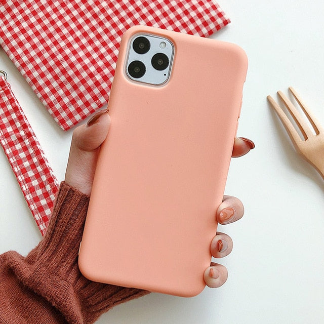 Solid Color Silicone iPhone Case V2