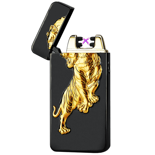 Superlit Plasma Aansteker Special Edition Glorious Gold Tiger