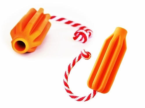 SodaPup - Natural Rubber Rocket Pop Tug and Fetch Rope Toy for Moderate Chewers
