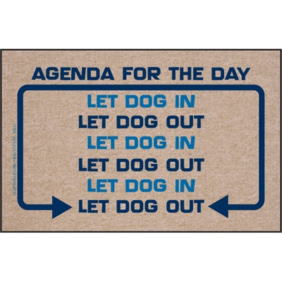 Agenda For the Day - Doormat