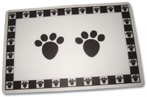 Placemat - Black Pet Paws Placemat